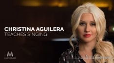 MASTERCLASS Christina Aguilera Teaches Singing