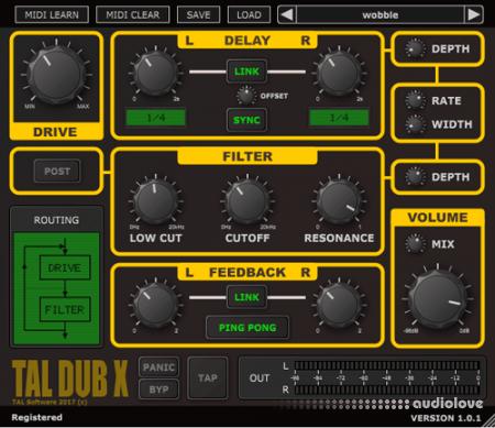Togu Audio Line TAL-Dub-X v1.8.2 WiN MacOSX
