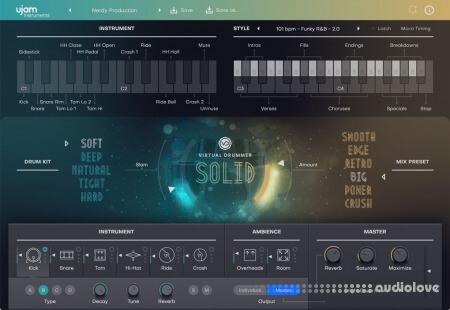 UJAM Virtual Drummer SOLID v2.1.0 / v2.1.1 M2567 WiN MacOSX