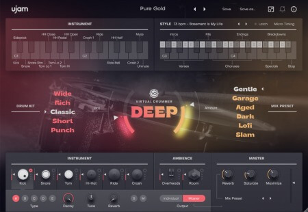 UJAM Virtual Drummer DEEP v2.1.1 WiN MacOSX