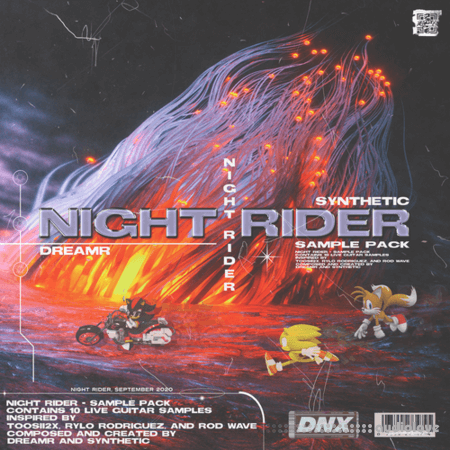 Synthetic x Dreamprod Night Rider Sample Pack (10) Guitar Samples