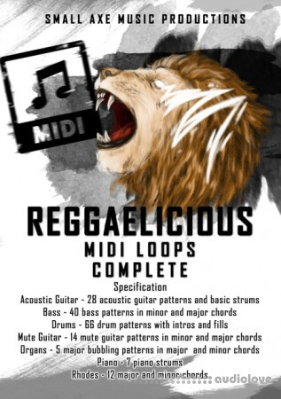 Tropical Samples ReggaeLicious Complete MiDi