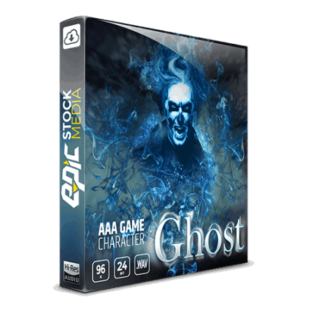 Epic Stock Media AAA Game Character Ghost