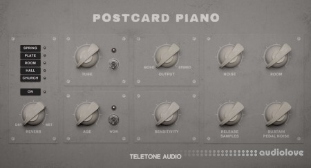 Teletone Audio Postcard Piano