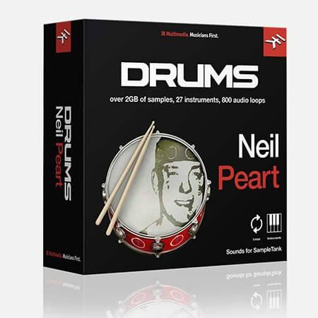 IK Multimedia Neil Peart Drums for SampleTank 3/4
