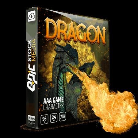Epic Stock Media AAA Game Character Dragon