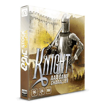 Epic Stock Media AAA Game Character Knight