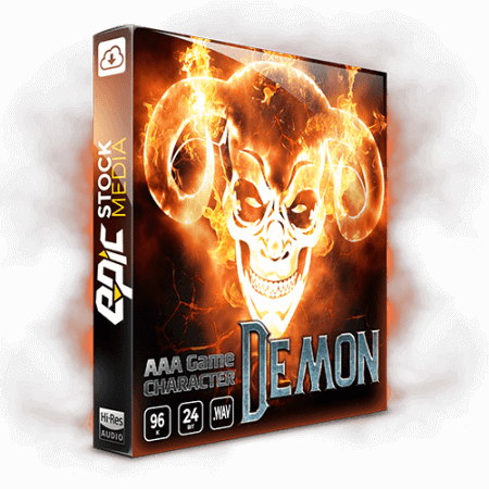 Epic Stock Media AAA Game Character Demon