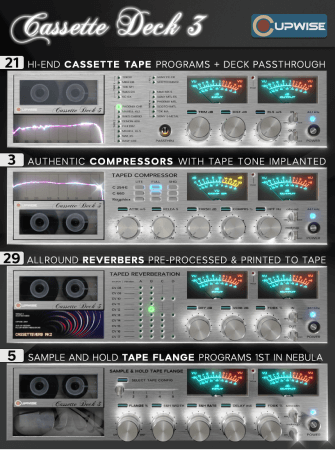 Cupwise Cassette Deck 3 Multi Effects Pack