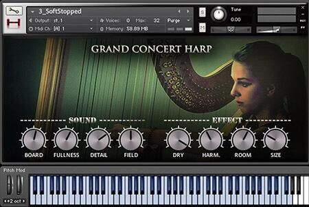 Hephaestus Sounds Grand Concert Harp KONTAKT