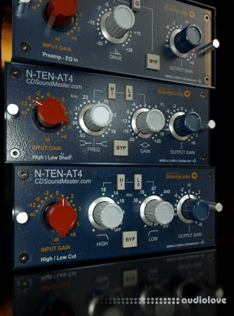 CDSoundMaster N-TEN-AT4 EQ and Console Channel Strip Nebula