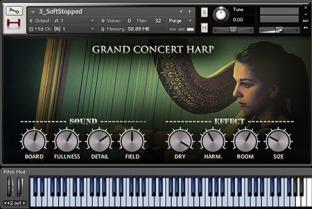 Hephaestus Sounds Grand Concert Harp