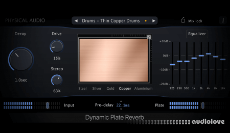 Physical Audio Dynamic Plate Reverb