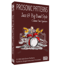 Prosonic Studios Midi Grooves Jazz and Big Band Drum Library