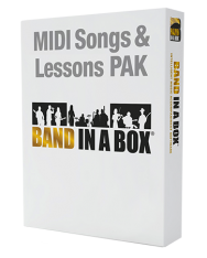 PG Music MIDI Songs and Lesson PAK for Band-in-a-Box