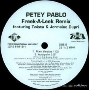Petey Pablo Featuring Twista and Jermaine Dupri Freek-A-Leek Remix Acappella ViNYL RiP