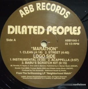 Dilated Peoples Marathon Acapella ViNYL RiP