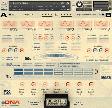 Spitfire Audio North 7 Vintage Keys GUI