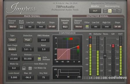 TBProAudio Impress v1.9.10 CE / v1.9.5 WiN MacOSX