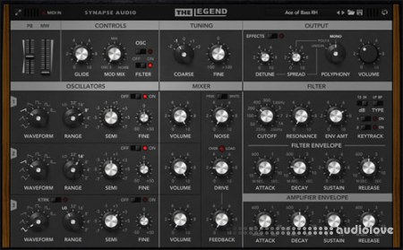 Synapse Audio The Legend v1.3.0 CE WiN