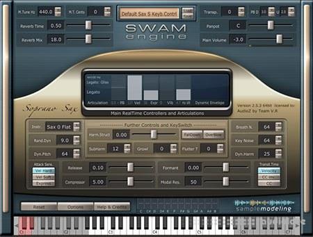 Audio Modelling SWAM Engine SWAM Soprano Sax v2.7.0 CE WiN