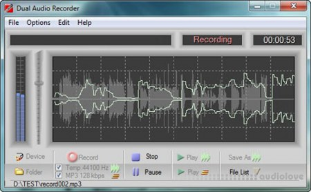 Adrosoft DUAL Audio Recorder free download - AudioLove