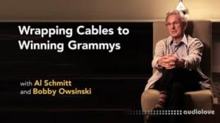 Lynda Al Schmitt with Bobby Owsinski Wrapping Cables to Winning Grammys