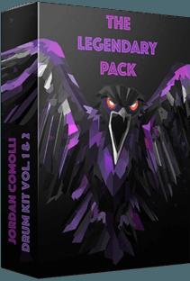 Jordan Comolli Presents THE LEGENDARY PACK (Drum Kit Vol.1 and 2)