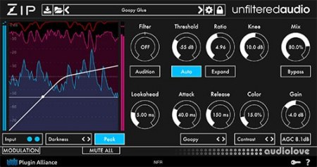 Unfiltered Audio Zip v1.0 CE / v1.0.1 WiN MacOSX