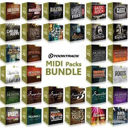 Toontrack MIDI Packs BUNDLE free download - AudioLove