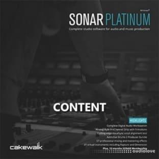 Cakewalk SONAR Platinum Content
