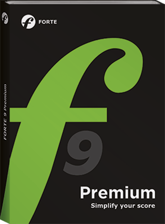 Forte Notation FORTE 9 Premium v9.06+ PORTABLE WiN