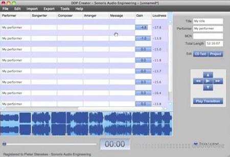 Sonoris DDP Creator 4 Pro v4.1.2 WiN MacOSX