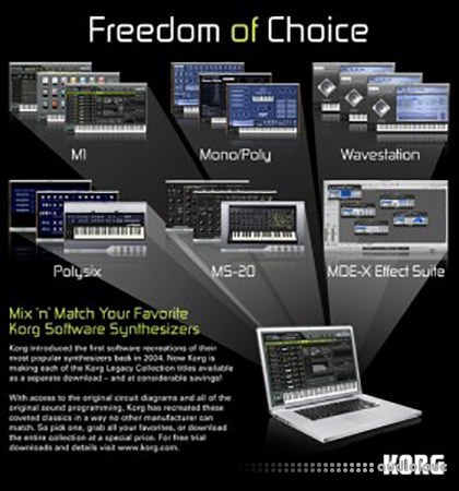 KORG Legacy Collection Presets 2018 Synth Presets
