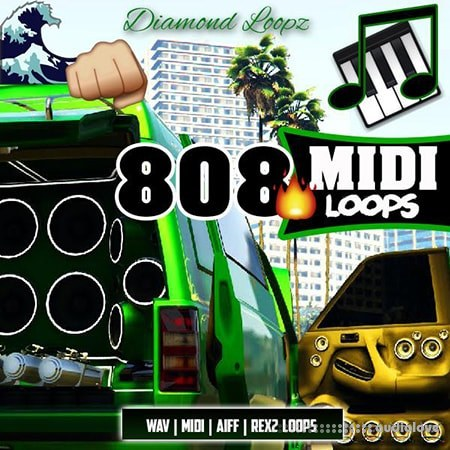 Diamond Loopz 808 Midi Loop Pack WAV MiDi REX AiFF