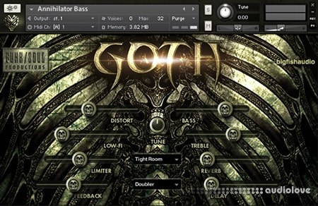 Big Fish Audio Virtual Instrument Division Goth KONTAKT