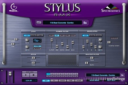 Spectrasonics Stylus RMX Software v1.9.8f Incl.DATA Installer v.1.7 UPDATE WiN MacOSX
