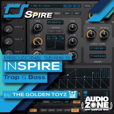 Audiozone Samples InSPIRE Trap And Bass Synth Presets
