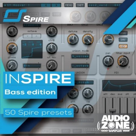 Audiozone Samples InSPIRE Bass Edition Synth Presets
