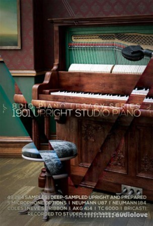 8Dio 1901 Upright Studio Piano KONTAKT