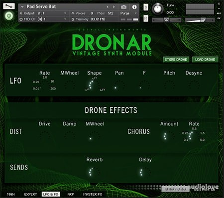 Download Gothic Instruments DRONAR Vintage Synth free