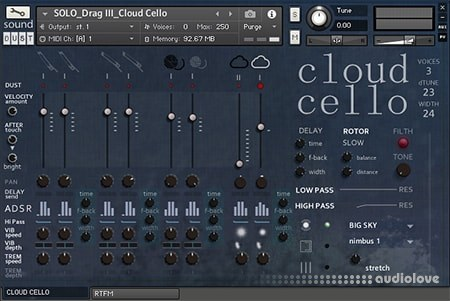 sound DUST Cloud Cello KONTAKT