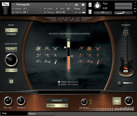 Indiginus Samples Renegade Electric Guitar KONTAKT