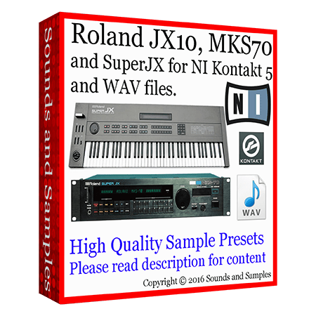 Sounds and Samples Roland JX 10 / MKS 70 / Super JX Samples KONTAKT WAV