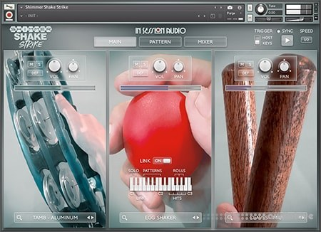 In Session Audio Shimmer Shake Strike KONTAKT