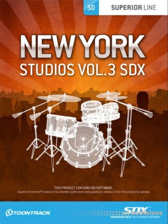 ToonTrack New York Studios Vol.3 EZDrummer