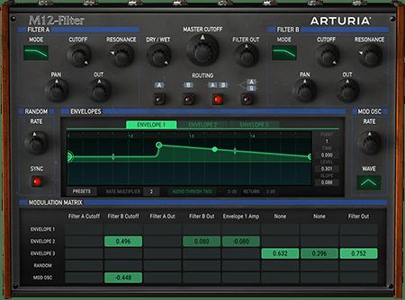 Arturia M12-Filter v1.1.0389 CE / v1.1.0.389 WiN MacOSX
