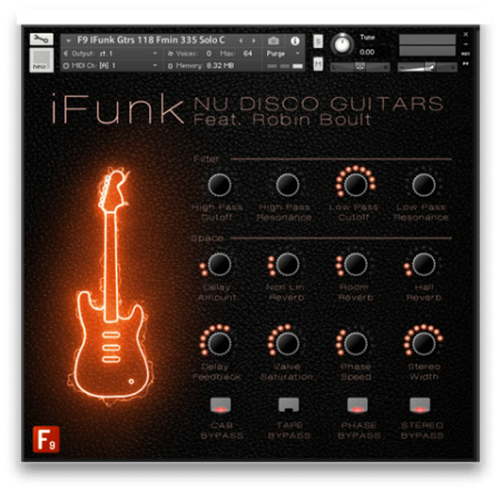 F9 Audio F9 iFunk Nu Disco Guitars Ft Robin Boult MULTiFORMAT DAW Templates KONTAKT