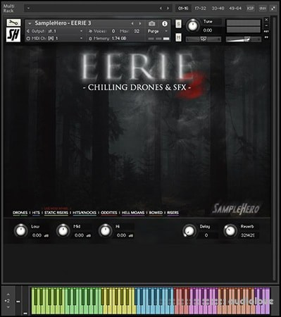 SampleHero EERIE 3 Chilling Drones and SFX KONTAKT