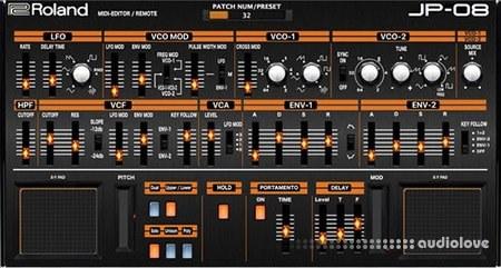 Momo Muller Roland Boutique JP-08 Midi Editor WiN MacOSX